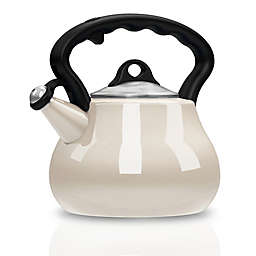 Remedy® Lovely Lady 2-Quart Porcelain Enamel Tea Kettle in Pearl