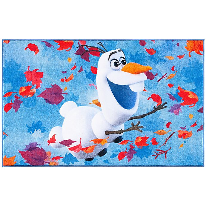 Alternate image 1 for Disney® Frozen 2 Olaf 3'3 x 5'3 Area Rug in Blue