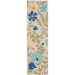 Martha Stewart by Safavieh Meadow Floral 2'3 x 8' Handcrafted Runner in Grey