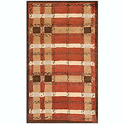 Martha Stewart by Safavieh Colorweave Plaid 2'6 x 4'3 Hand Tufted Accent Rug in Red