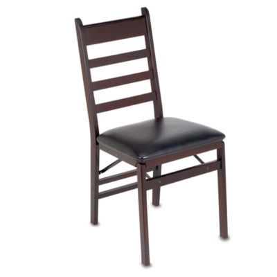 Cosco 174 Wood Folding Chair With Padded Seat Bed Bath And