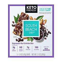 South Beach Diet® 5-Count Keto-Friendly Espresso Nut Entrée Bars