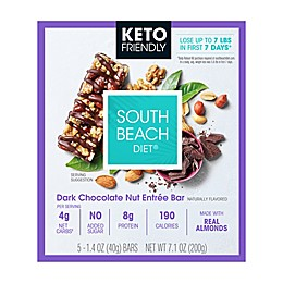 South Beach Diet® 5-Count Keto-Friendly Dark Chocolate Nut Entree Bars