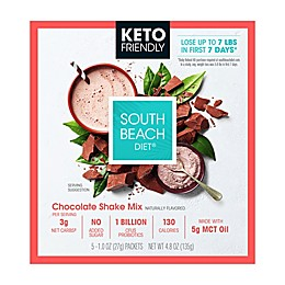 South Beach Diet® 5-Pack Keto-Friendly Chocolate Shake Mix