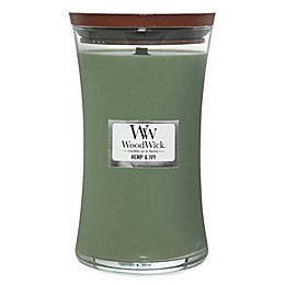 WoodWick® Hemp and Ivy Large Hourglass Jar Candle