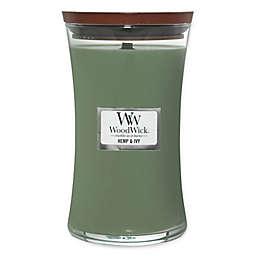 WoodWick® Hemp and Ivy Large Hourglass Jar Candle