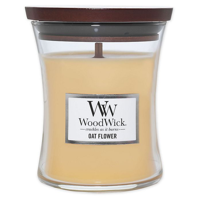 Alternate image 1 for WoodWick® Oat Flower Medium Hourglass Jar Candle