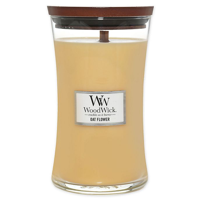 Alternate image 1 for WoodWick® Oat Flower Large Hourglass Jar Candle