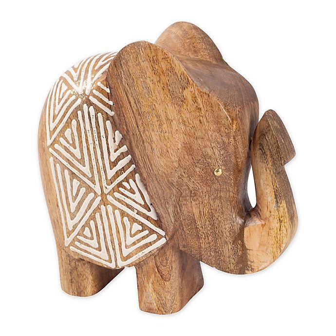 Alternate image 1 for Global Caravan™ Wooden Elephant