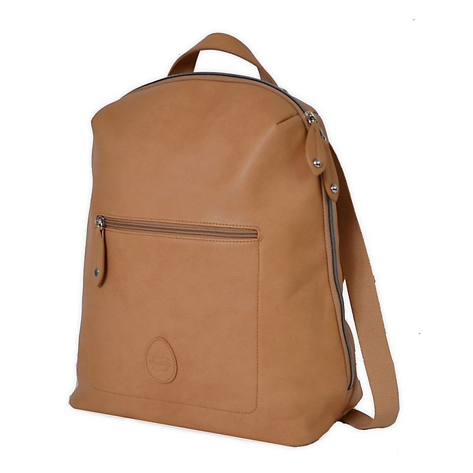 Alternate image 1 for PacaPod Hartland Vegan Leather Backpack Diaper Bag in Camel
