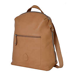 PacaPod Hartland Vegan Leather Backpack Diaper Bag in Camel