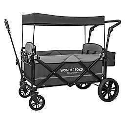 WonderFold Wagon X2 Double Stroller Wagon in Grey