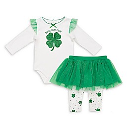 Baby Starters® 2-Piece Lucky Charm Bodysuit and Skirted Leggings Set in Green