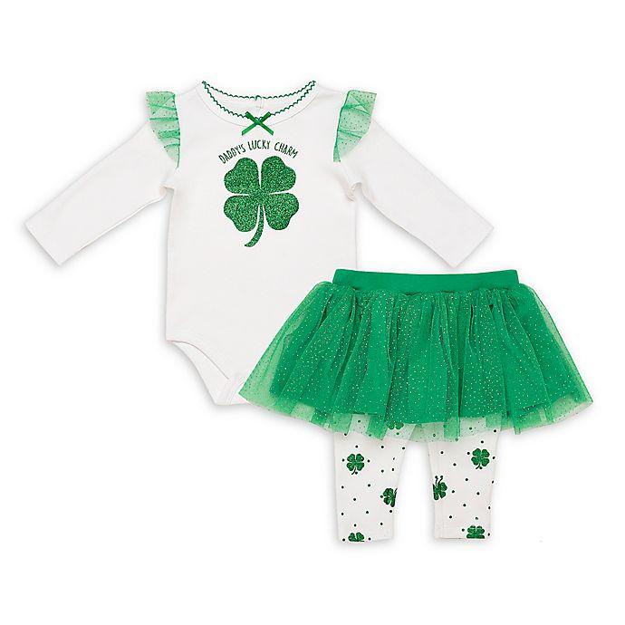 Alternate image 1 for Baby Starters® 2-Piece Lucky Charm Bodysuit and Skirted Leggings Set in Green
