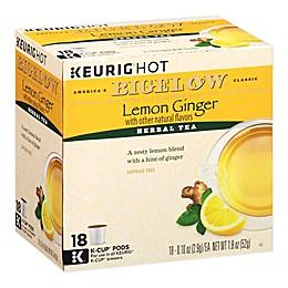Bigelow® Classic Lemon Ginger Tea Keurig® K-Cup® Pods 18-Count