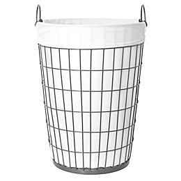 Taylor Madison Designs® Open End Fashion Theme Laundry Hamper in Gunmetal