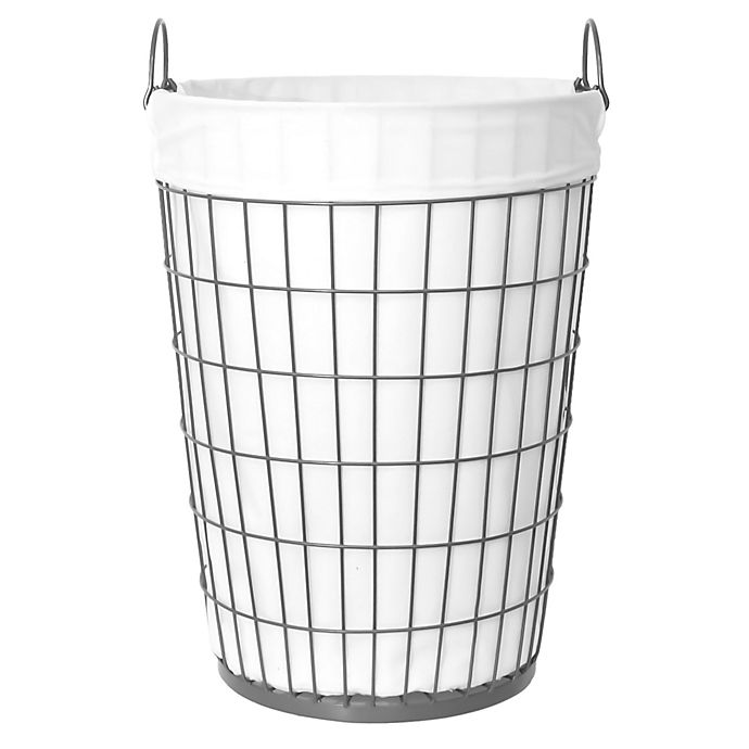 Alternate image 1 for Taylor Madison Designs® Open End Fashion Theme Laundry Hamper in Gunmetal
