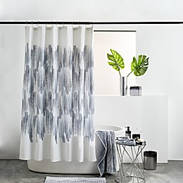 DKNY Brushstroke Ombre Shower Curtain Collection in Indigo