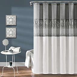 Lush Decor Night Sky Shower Curtain in White/Grey