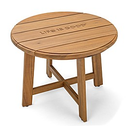 Life is Good® All-Weather Acacia Wood Patio Side Table