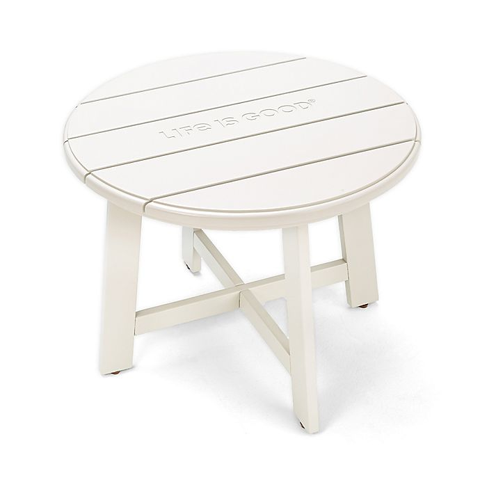 Alternate image 1 for Life is Good® All-Weather Acacia Wood Patio Side Table in White