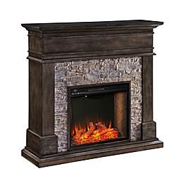 Hennington Alexa-Enabled Fireplace in Smoked Ash