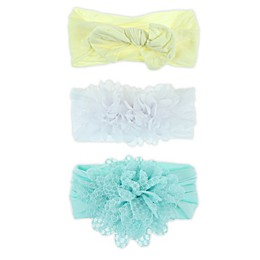 Capelli New York 3-Pack Hosiery Headbands in Yellow/White/Blue