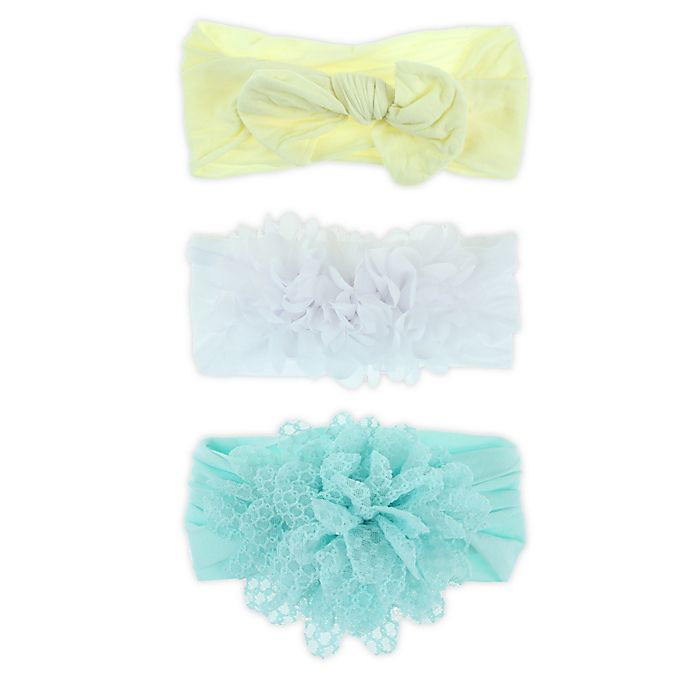 Alternate image 1 for Capelli New York 3-Pack Hosiery Headbands in Yellow/White/Blue
