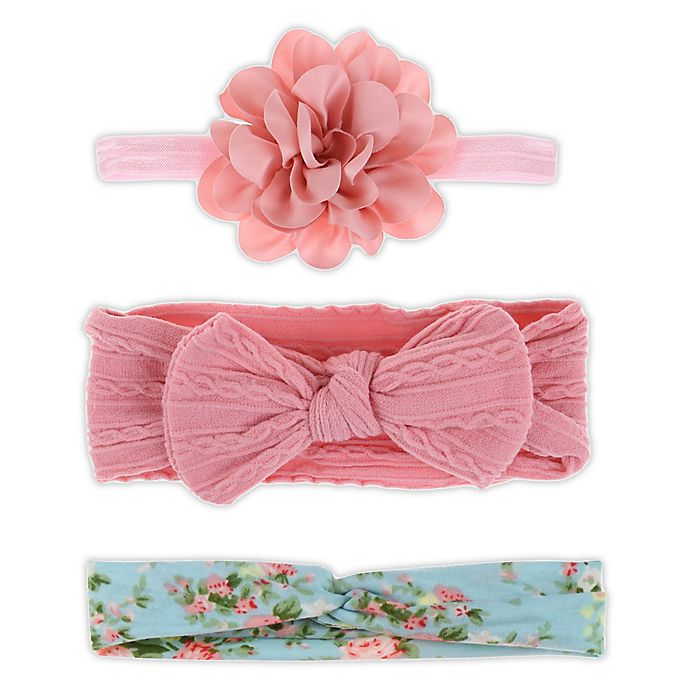 Alternate image 1 for Capelli New York 3-Pack Flower/Bow/Knot Headbands