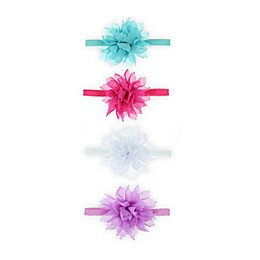 Capelli New York 4-Pack Chiffon Flower Headbands