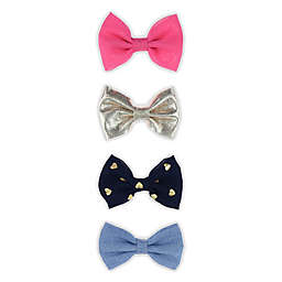 Capelli New York 4-Pack Bow Hair Clips