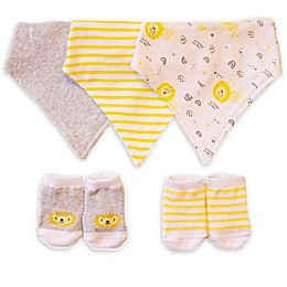 Sterling Baby Lions Bandana Bib and Bootie Set