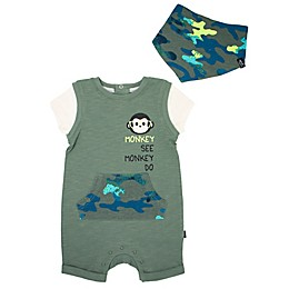 Mini Heroes™ 2-Piece Monkey Romper and Bandana Set
