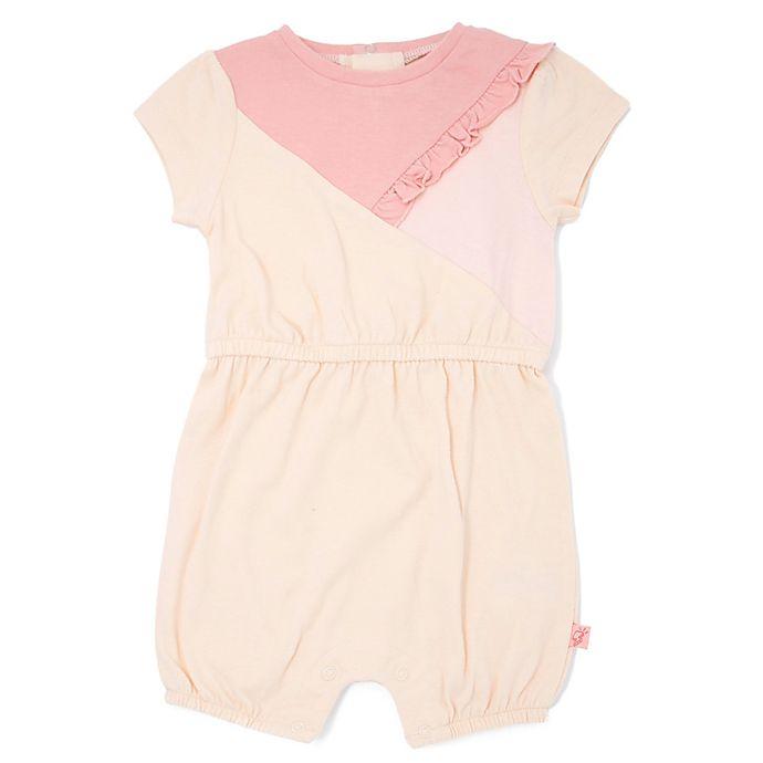 Alternate image 1 for Mini Heroes™ Newborn Colorblock Romper in Pink