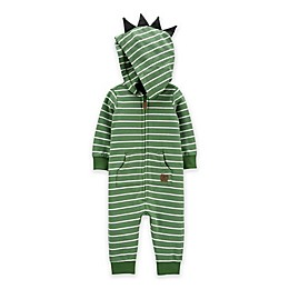carter's® Dinosaur Hooded Coverall in Green