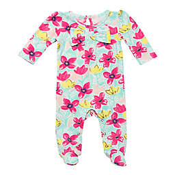 Baby Starters® Size 6M Bright Floral Footie in Pink