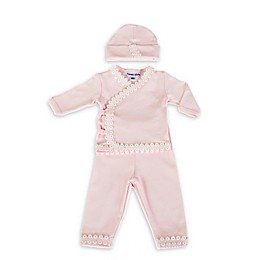 Sippy's Babes 3-Piece Double Daisy Lace Take Me Home Set in Pink
