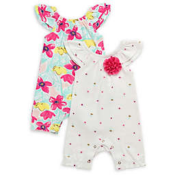 Baby Starters® 2-Pack Spring Awakening Rompers in White