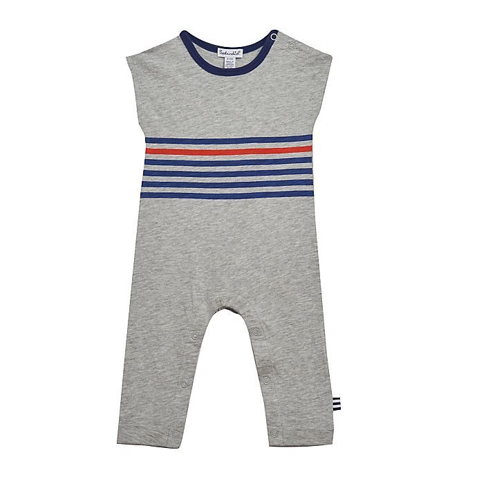 Alternate image 1 for Splendid® Striped Coverall in Heather Grey