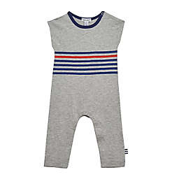 Splendid® Size 0-3M Striped Coverall in Heather Grey