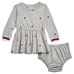 Splendid® 2-Piece Hearts Dress and Bloomer Set in Heather Grey