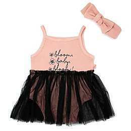 Mini Heroes™ Bloom Baby 2-Piece Bodysuit Tutu and Headband Set in Pink