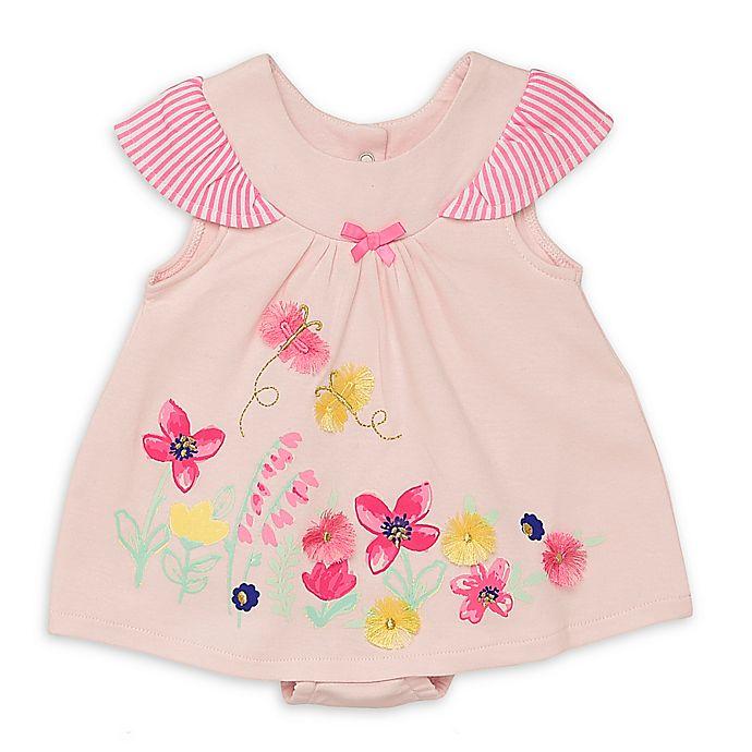 Alternate image 1 for Baby Starters® Newborn Floral Spring Awakening Romper in Pink