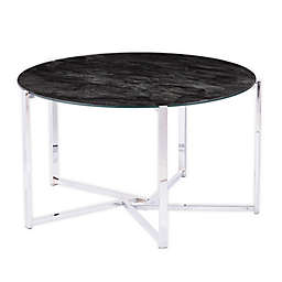 Southern Enterprise Dransill Cocktail Table in Chrome/Black