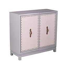 Southern Enterprises Pembright Accent Cabinet in Gray/Natural