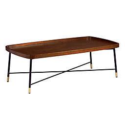 Southern Enterprises Morling Cocktail Table in Walnut/Black