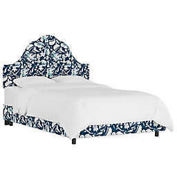 Global Caravan™ Upholstered Panel Bed in Floral Green