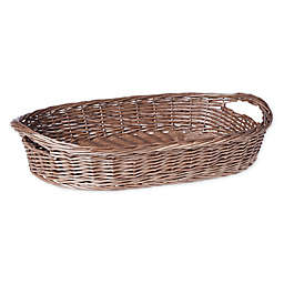 Bee & Willow™ Home Wicker Serving Basket in Grey