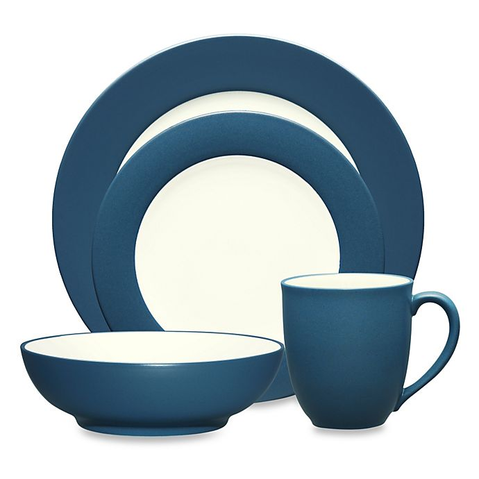 Alternate image 1 for Noritake® Colorwave Rim 4-Piece Place Setting in Blue