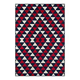 Momeni® Baja Kaleidoscope 2'3 x 4'6 Powerloomed Area Rug in Red